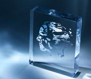 Abel Prize glass trophy